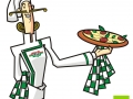 Ilustração Torre de Pizza Mascote